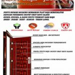 Pintu Rumah Minimalis - JBS DOOR 1 - Pintu Rumah Minimalis 2 Pintu Besar Kecil
