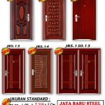 New Desain Pintu Baja - JBS DOOR - Pintu Rumah Minimalis 2 Pintu Besar Kecil