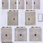 Pintu Rumah Minimalis - Putih - Pintu Besi Minimalis Double